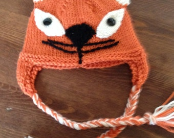 Infant Orange Cat Hat