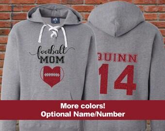 Football MOM Hoodie, Football MOM Lace Up Hoodies, Football MOM Hockey Hoodie, Football Mom Glitter Shirt, Football Mom Sweatshirt