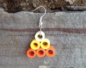 Medium Fashion Paper Quilling Earrings - yellow/orange earrings, paper quilted earrings, quilling jewellery, trendy earrings