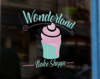 Wonderland Bake Shoppe - Custom Premade Logo