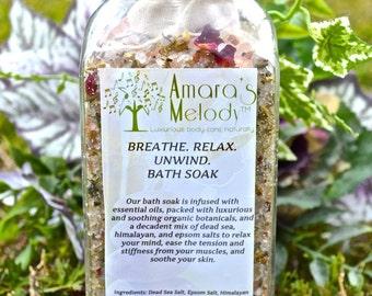 Breathe. Relax. Unwind. Bath Soak