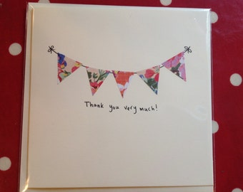 Thank You bunting card