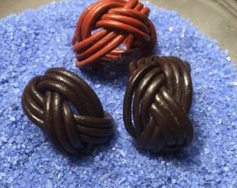 Genuine leather rings