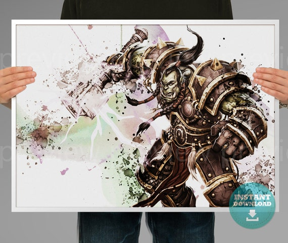 World of Warcraft Orc Art Print