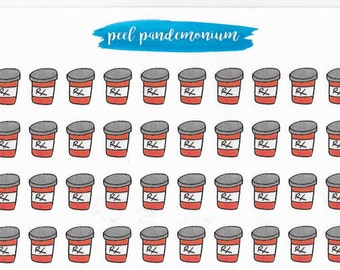Pill Bottle Planner Stickers