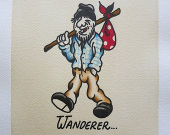 "Original painting ""Wanderer"""