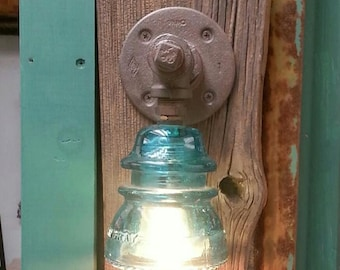 Vintage Steampunk Industrial Pipe/Insulator Sconce