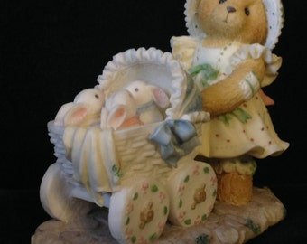 Cherished Teddies Jessica 1995 #155438 A Mother's Heart is Full of Love Enesco Limited Numbered