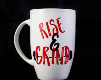 Rise & Grind, 15 oz. Latte Mug