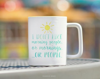 Coffee Mug with Sayings, Mondays, Introvert Mug, Sarcastic Gift, Sarcasm, Coffee Mug for her, Funny Mug, Coffee Cup, Best Friend Gift