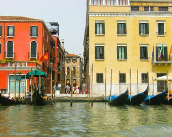 Grand Canal, Travel Photography, Venice, Italy, Fine Art Prints, Colorful Wall Art