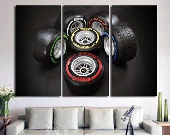 Tyres Wall Art F1 Wall Art F1 Wall Decor F1 Poster F1 Canvas Top Gear Formula1 Wall Art Formula1 Poster Wheels Wall Decor Formula1 Canvas