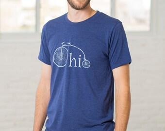 Ohio Bike Heather Navy Blue T-shirt