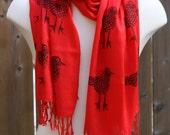 red bird scarf