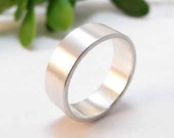 Modern Mens Wedding Ring Sterling Silver Womens Wedding Band Plain Wedding Band Womens Wedding Ring Silver Wedding Band Silver Wedding Ring