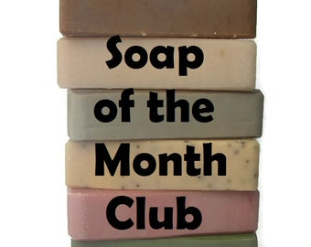 Soap of the Month Club - 6 Month Vegan Soap Subscription - Handmade Artisan Soap - Birthday Gift - Subscription box - Cruelty Free