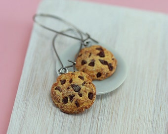 Chocolate Chips Cookie Earrings