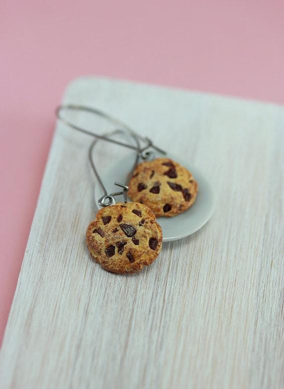 Chocolate Chips Cookie Earrings