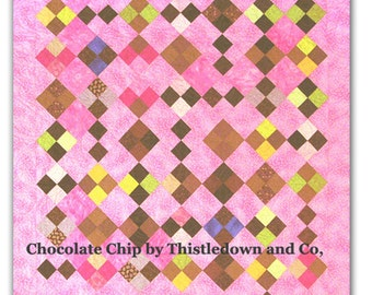 modern patchwork quilt pattern -Chocolate Chip