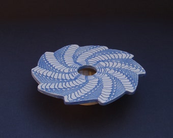 Spiral Ceramic Pottery Flower Vase
