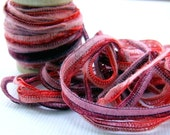 Red Wine Seamed String, SIX yards stretchy, thin ribbon for gift wrapping, party favor packaging, gift tags, paper crafts