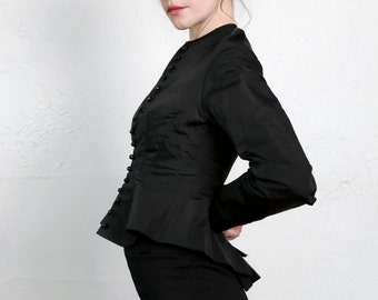 SALE- 1800s Victorian Top Black Antique Blouse