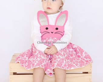 Toddler Girl Clothes, Easter Dress Toddler, Bunny Kitty Mouse Skirt, Spring Easter Girls Outfit, Girls Dresses, Easter Outfit, Baby Animals