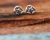 Star studded post earring - sold as single earring- buy two for a  pair buy two for a pair