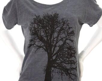 Oak tree| Soft lightweight Slouchy T Shirt| Relax fit| Art by MATLEY| Gift for her| Yoga| Zen| Tree hugger.