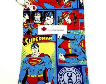 EpiPen Bag Insulin Case Water Resistant Epipen Case Epipen Pouch Medical Case Epi Pen Case Medicine Case Epipen Holder Superman Medicine Bag