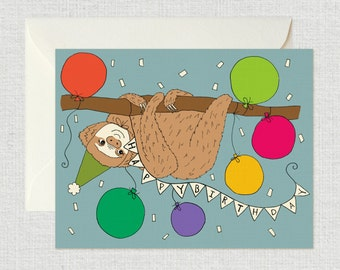 Happy Birthday Card (Sloth)