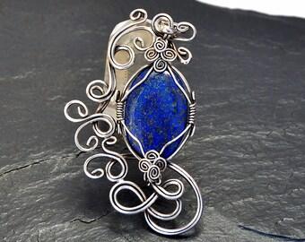 Blue Pendant, Lapis Lazuli Pendant, Lapis Pendant, Blue Lapis Pendant, Vintage Pendant, Silver Pendant, Lapis Necklace, Lapis Lazuli Jewelry
