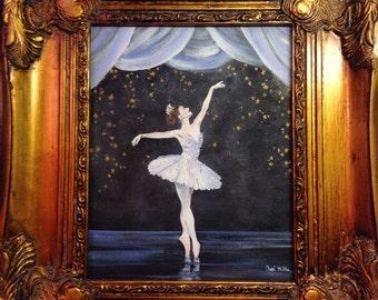 Tiny Dancer, Ballerina, ballet, ballerina painting, dancer, ballet painting