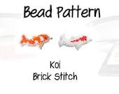 Koi Pendant Beading Patterns, Brick Stitch | Digital Download