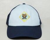 BEAR Hat Bear Scouts Cub Scouts Velcro Back Cap 2 Tone Light Blue Navy