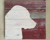 Rustic Barn Wood Wall Decor  • Lab Silhouette Wall Art • Labrador Retriever Wooden Chalk Paint Wall Hanging - Made to Order