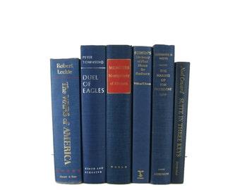Blue  Old Decorative Books , Decorative Book Set , Photo Props ,  Wedding Book Decor , Book Lover Set