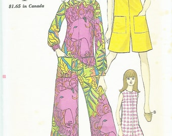 Vogue 7232 Misses' 60s Pantdress or Jumpsuit Sewing Pattern in Three Lengths