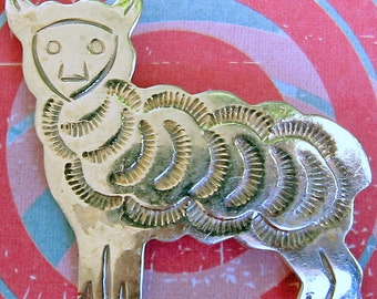 Baaaa! Sterling Silver Sheep Pin Brooch
