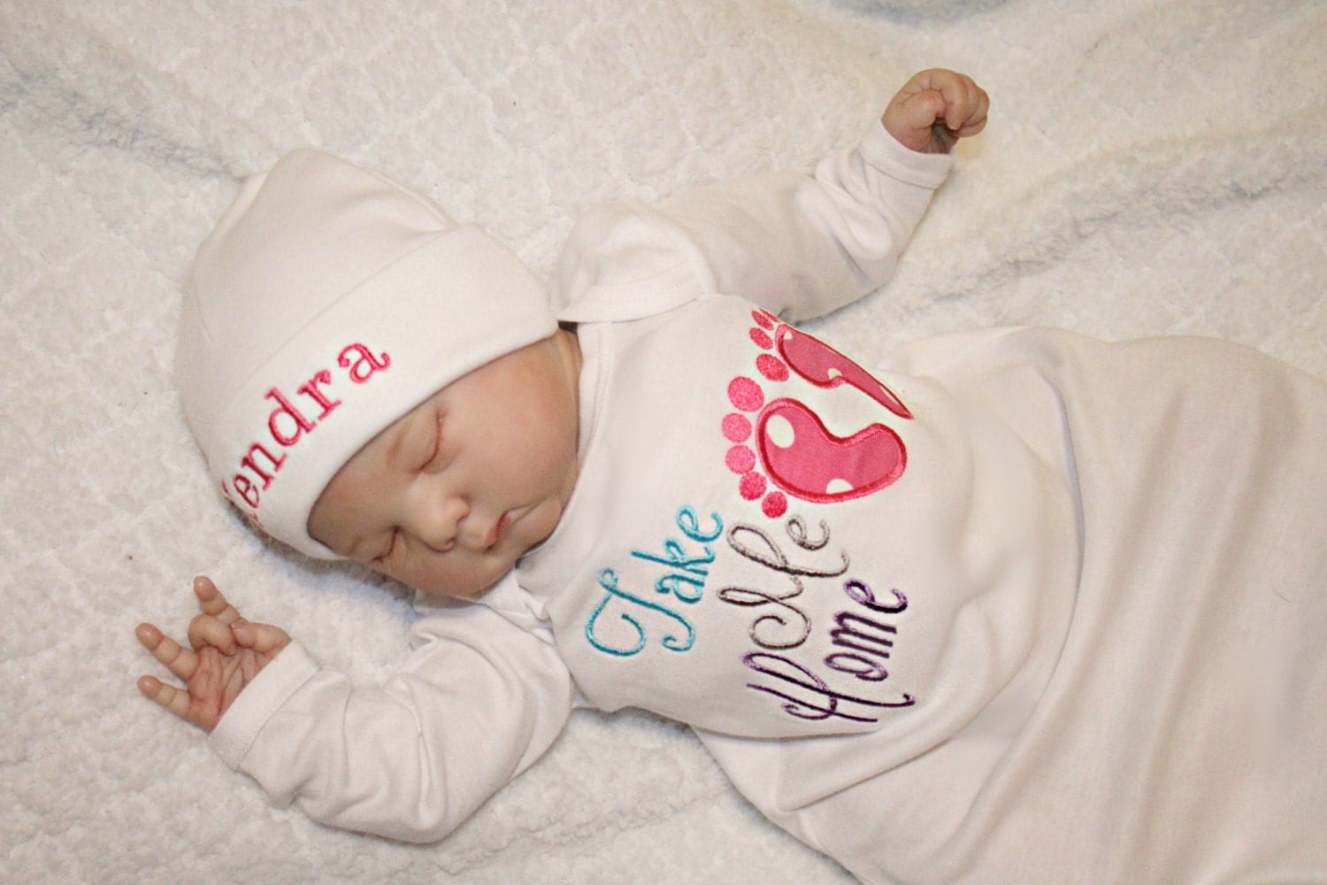 Newborn Girl Coming Home Outfit Baby Girl Hospital Outfit Take
