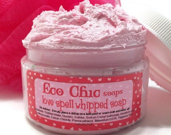 Valentine's Day Whipped Soap - Love Spell Whipped Soap - Creamy Soap in a Jar - Body Wash - Valentine's Day Gift