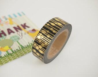 Golden pattern Washi Tape (10M)