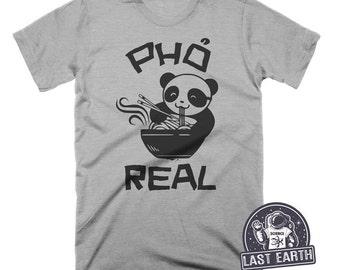 Pho Real Funny T-Shirt Noodle Soup Tshirt Asian vietnamese Food Animal Humor Graphic Pho Soup Shirt Funny Tees Food Gifts Panda Bear Shirt