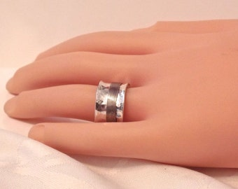 Vintage 925 Sterling Silver Spinner Ring/Wide Band