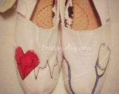 "SIZE 8 - ""Medical"" Canvas Toms Shoes"