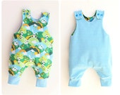 JUMPY Harem romper pattern Pdf, Children Baby Boy Girl romper,  REVERSIBLE Baby romper, Toddler romper, newborn to 6 years