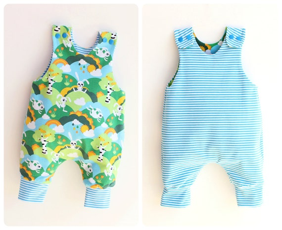 Jumpy Baby Romper Sewing Pattern Pdf Reversible Jersey Woven