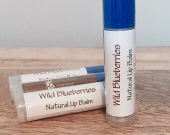 Wild Blueberries Lip Balm, Organic and All Natural