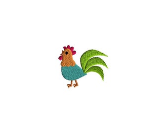 Mini Rooster Machine Embroidery Design-INSTANT DOWNLOAD