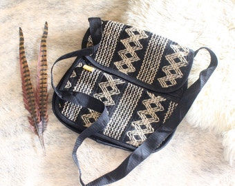 ethnic woven cross body